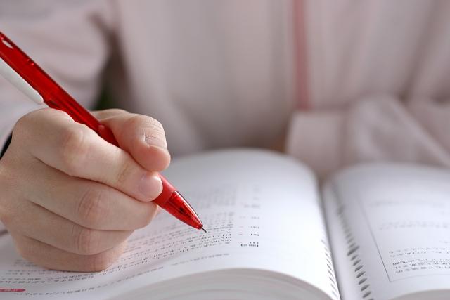 試験勉強の様子