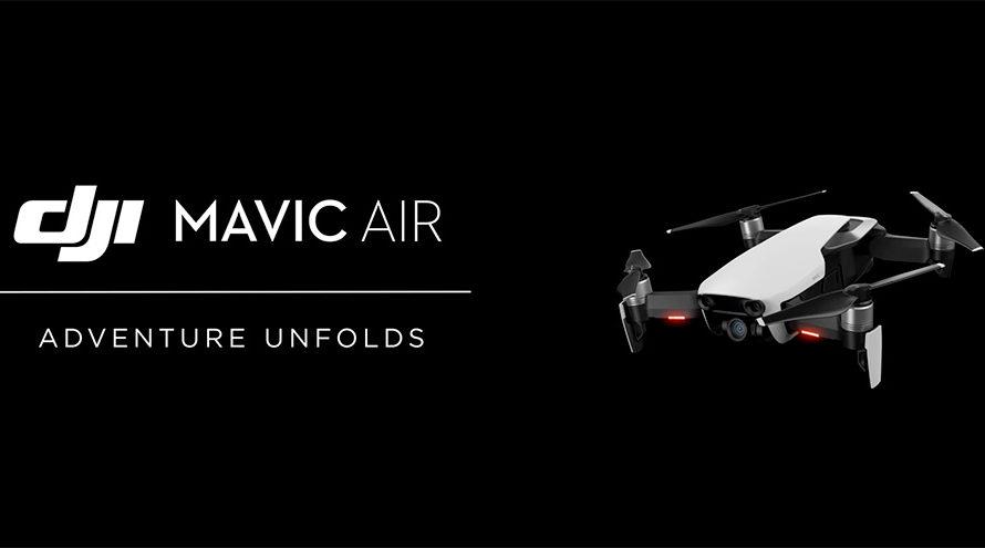 DJI、新型ドローン「Mavic Air」発表!4K30pで折りたたみ式、スロー撮影にも対応。